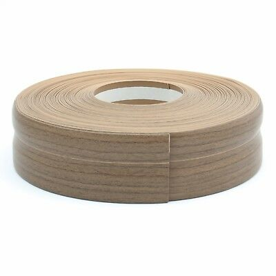 WALNUT FLEXIBLE SKIRTING BOARD 32mm x 23mm PVC protects edges floor wall cover