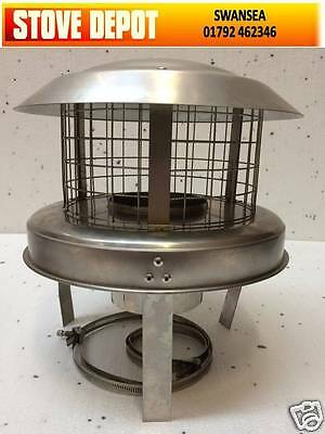 "5""  Stainless Steel  CHIMNEY POT HANGING COWL"