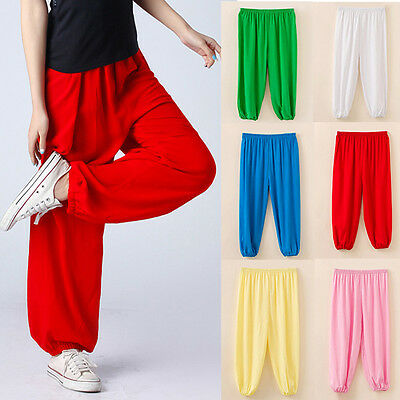 unisex Girls Boys Kids 100%  Cotton Dance Costume Bloomers trousers Harem Pants