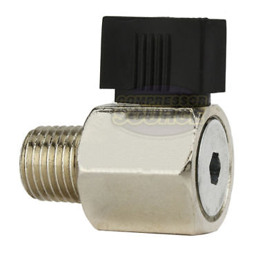 "1/4"" Male NPT Ball Valve Water Moisture Air Tank Drain Pet Cock Petcock New"