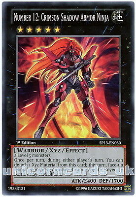 SP13-EN030 Number 12: Crimson Shadow Armor Ninja 1st Edition Starfoil Card