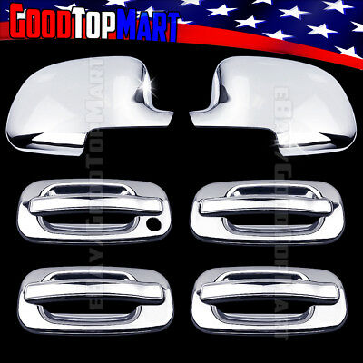 For NISSAN Frontier 2005-15 2016 17 Chrome Covers Set Full Mirrors+4 Doors w//o S