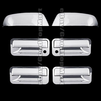 For 1992-1998 1999 Chevy SUBURBAN Chrome Covers Set Mirrors + 4 Door Handles PSK