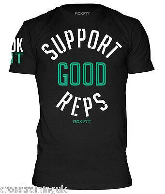 "RokFit ""Support Good Reps"" T-shirt CrossFit Open"