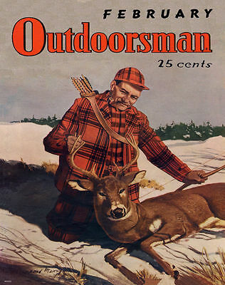 Whitetail Deer Hunting Magazine Poster Art Print Antlers Sheds Bow Arrow MAG16