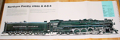 HUGE! NORTHERN PACIFIC CLASS A 4-8-4 STEAM LOCOMOTIVE POSTER picture print train