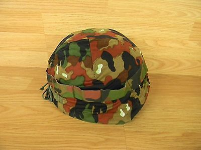 Swiss Army M71 Alpenflage Camo Helmet Cover  Unissued W/free Shipping!!!!!