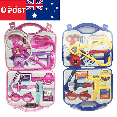 Kids Pretend Play Educational Doctor Case Kit Medical Set Hospital Supplies Toy
