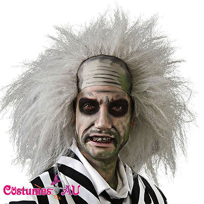 Mens Beetlejuice Wig Adult Costume Accessories Adults Fancy Dress wigs Accessory