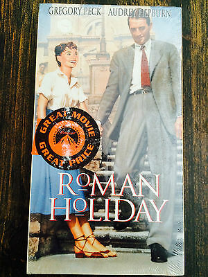 Roman Holiday (VHS, 1998) Starring Audrey Hepburn & Gregory Peck VHS BRAND NEW