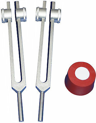 New 2 Osteo Bone Tuning Forks 25 & 50 hz +Pouches+Activator