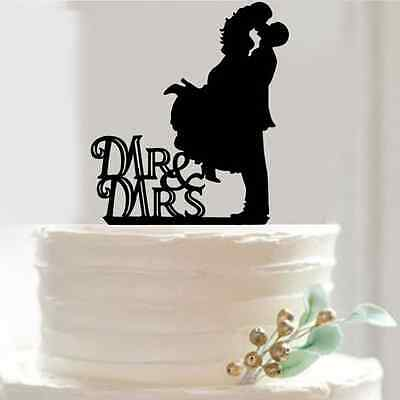 Mr &Mrs Bride and Groom Wedding Cake Topper Party Favors Decoration Gift