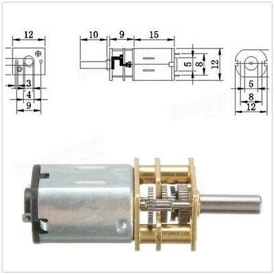 N20 DC12V 100RPM Gear Motor Miniature High Torque Gear Box Motor. UK SELLER