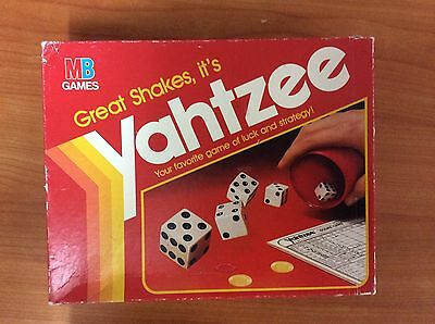 Vintage 1982 Board Game - Yahtzee - 100% complete