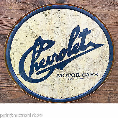 Liscenced American Chevy Chevrolet Logo Auto Advertising Metal Tin Wall Signs UK
