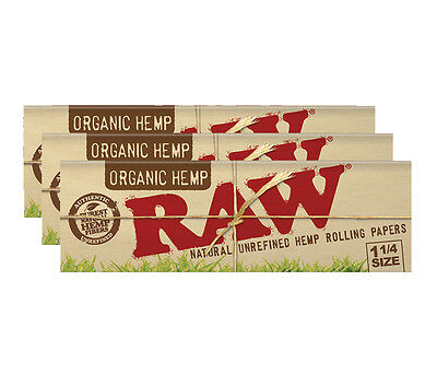 Raw Organic 1 1/4 Papers - 3 Packs
