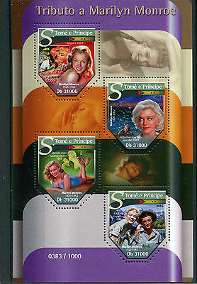 Sao Tome & Principe 2015 MNH Tribute Marilyn Monroe 4v M/S Niagara Movie Stars