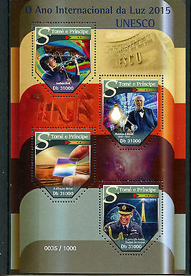 Sao Tome & Principe 2015 MNH UNESCO International Year of Light 4v M/S Edison