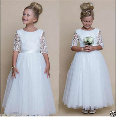 Lace Flower Girl Communion Pageant Wedding Easter Graduation Bridesmaid Dresses