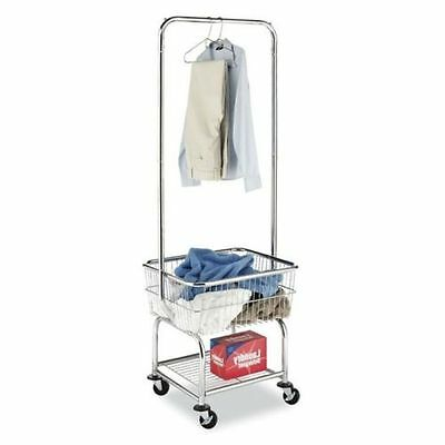 Laundry Organizer Storage Cart Butler Basket Heavy Duty Rolling Commercial NEW