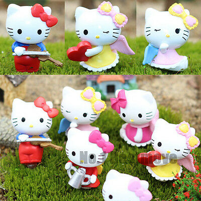 Hot 6Pcs Of Hello Kitty Figures