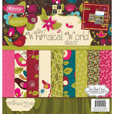 """DCWV Paper Stack 12""""X12"""" 48/Pkg Whimsical, 24 Designs/2 Each PS005298"""