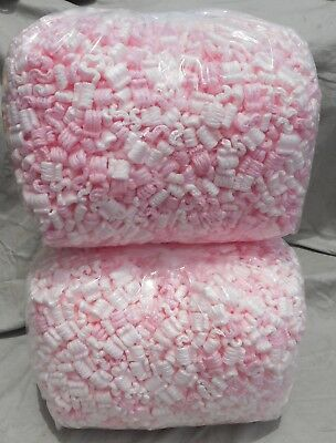 Packing Peanuts 7 cu ft Pink Anti Static Popcorn New Clean Fast Ship
