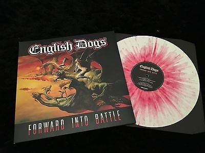 English Dogs - Forward Into Battle - New 180g WHITE & RED COLOURED Vinyl LP