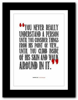 HARPER LEE - To Kill a Mockingbird ❤ typography book quote poster print #84