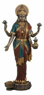 "LARGE 19""H Hindu Collectible Goddess Lakshmi Statue Prosperity Figurine Wealth"