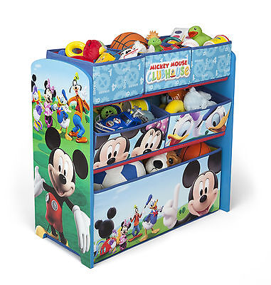 Kinder Regal Spielzeubox Kisten Kindermöbel Mickey Maus Kinderkisten Möbel