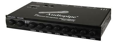 Audiopipe EQ-707X 7-Band Parametric Graphic Equalizer w/ Subwoofer Output