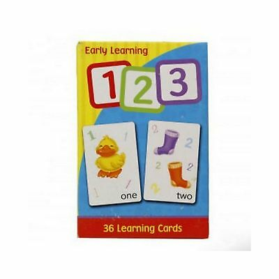 Early Learning Flash Cards 123 Pack of 36