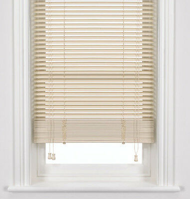 50mm White Wooden Venetian Timber Blinds  - With cut down option