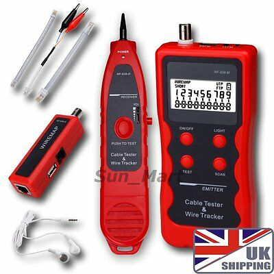 UK Network LAN Phone Tester wire Tracker USB coaxial Cable 1394 RJ45RJ11 USB BNC