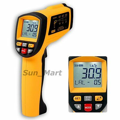 20:1 Infrared Thermometer 1150°C 2102F 0.1~1EM Professional Industrial Pyrometer