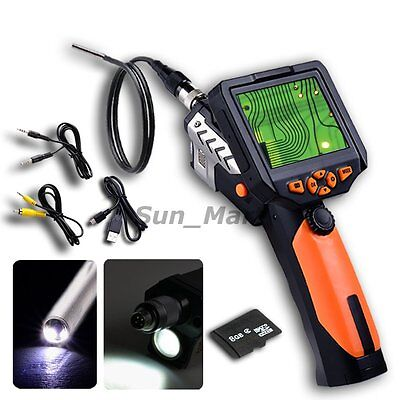 """Inspection Camera 3.5"""" LCD 3.9mm Endoscope Borescope Zoom Rotate Scope 1M Cable"""