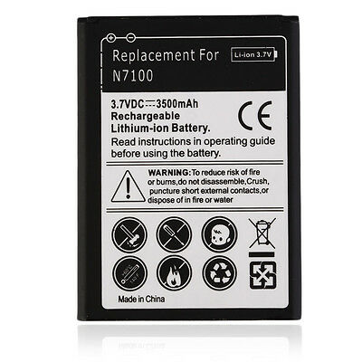 3500mAh Replacement Battery For Samsung Galaxy Note 2 II N7100 N8