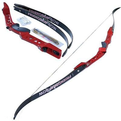"""Archery Carbon Limbs 68"""" Take Down Recurve Bow Set Alloy Riser Hunting Target"""