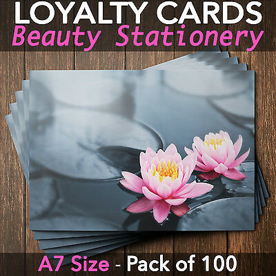 Customer Loyalty Cards Blank Coupon Repeat Business Salon Massage Pack of 100 WL
