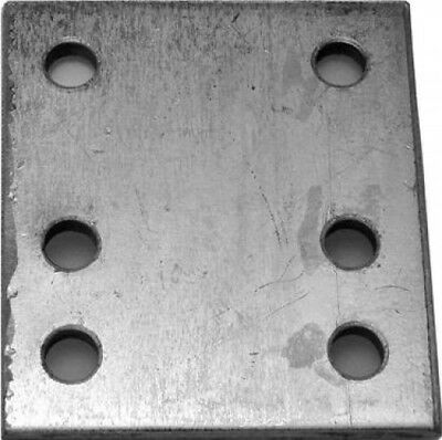 """Maypole 4"""" Tow Ball 6 Hole Drop Plate Zinc Plated Metal 
