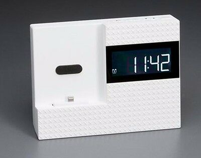 Clock Radio for iPhone 5/6/6 Plus LED Display White