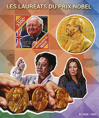 Niger 2015 MNH Nobel Prize Laureates Winners 1v S/S Angus Deaton Bouchamaou