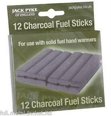 Jack Pyke 12 Charcoal Fuel Sticks Hand Warmer Spares Refill Sticks Solid Fuel