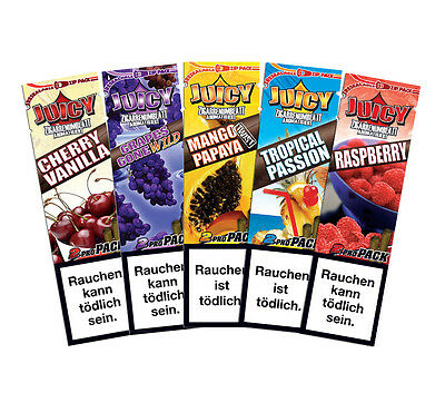 Juicy Blunts Set Flavored Cigar Wrapper / 5 x 2er Packs