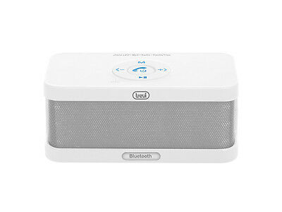Trevi Rechargeable Portable FM Radio with bluetooth Aux In And SD Input White