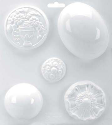 "Soapsations Soap Mold 8""X9"" 5 Cavity   Domes & Flowers LM600-306"