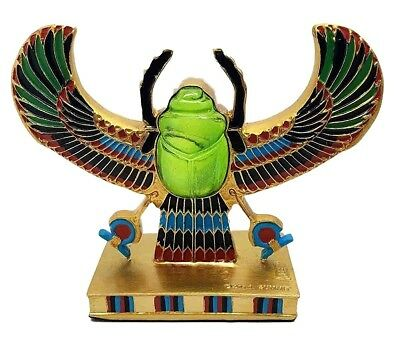 "6"" Long Ancient Egypt Scarab Amulet Ankh Symbol of Rebirth Figurine Statue"
