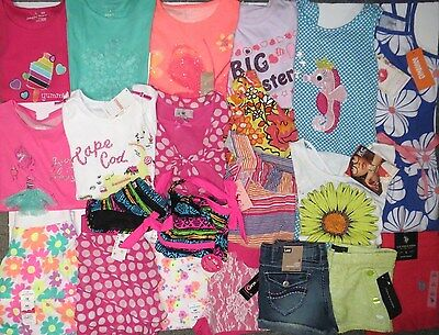NWT Girl Summer Clothes Lot 6 6x Gymboree Disney Justice Dress Outfits Sets Swim
