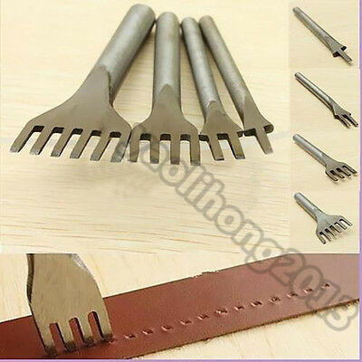 DIY Leather Craft Metal Tools Hole Punches Lacing Stitching Punch Tool new